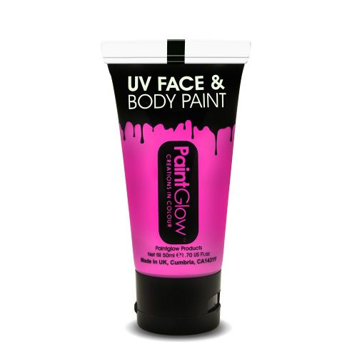 Intense Pink - Neon UV Face & Body Paint Large